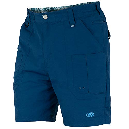 Mossy Oak Men's XTR Fishing Shorts, Deep Sea Blue, Medium