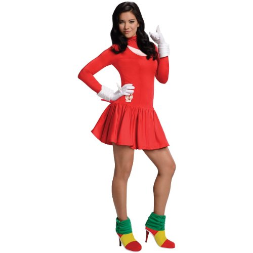 Secret Wishes  Costume Sonic The Hedgehog, Adult Knuckles Dress and Accessories, Red, Medium