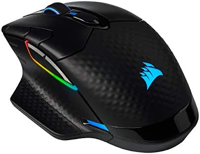 Corsair Dark Core RGB Pro, Wireless FPS/MOBA Gaming Mouse with SLIPSTREAM Technology, Black, Backlit RGB LED, 18000 DPI, Optical,CH-9315411-NA