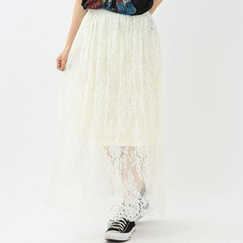 Amazon | アナザーエディション(Another Edition) レースロングスカート/AEMFC LACE LONG SK【OFF WHITE/FREE】 | Amazon Fashion 通販
