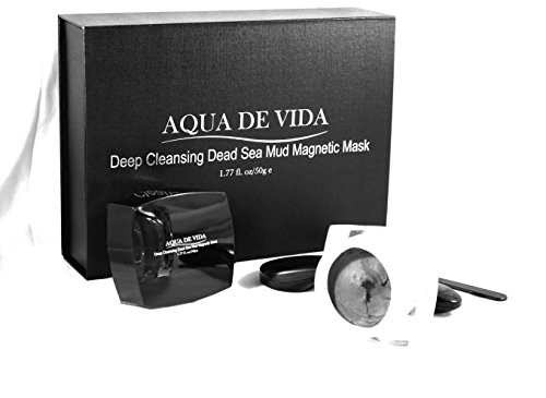 Aqua De Vida 10 Mineral Rich Magnetic Deep cleansing Dead Sea Mud Mask Softer Glowing Radiant Skin Shea Butter, Cocoa seed extract, Jojoba Oil, Vitamin C, Vitamin E, Hyaluronic, Bees Wax