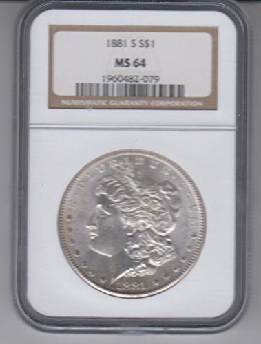 1881 S Morgan Silver Dollar $1 MS64 NGC