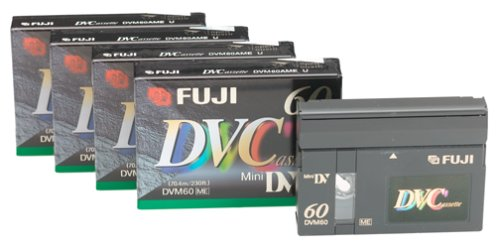 23030065 - DVC60. Mini DV Video cassettes 60min. 5pack