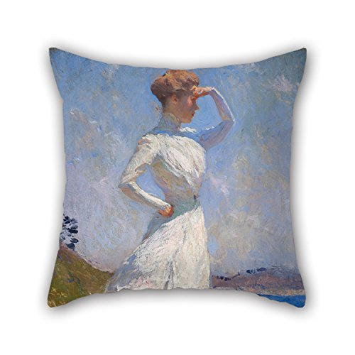 papaver-the-oil-painting-benson-frank-weston-sunlight-pillowcase-of-16-x-16-inches-40-by-40-cm-decor