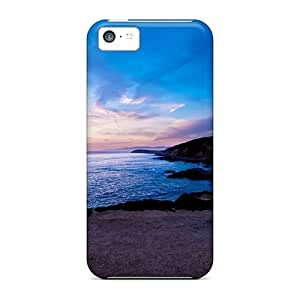 MMZ DIY PHONE CASEFirst-class Case Cover For iphone 5c Dual Protection Cover Seaside Sunrise
