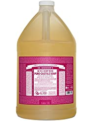 Dr. Bronner's Pure-Castile Liquid Soap - Rose, 1 Gallon