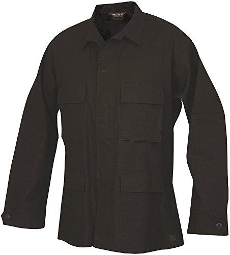 Tru-Spec 100% Cotton Ripstop BDU Jacket, Black, Medium, Regular Length 1532004