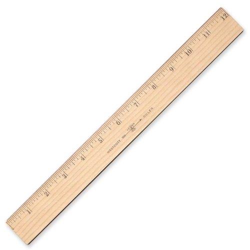 - Westcott Wood Ruler Measuring Metric and 1/16