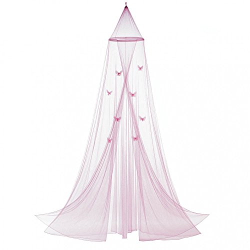 Mosquito Canopy, Tulle Girls Room Canopy, Princess Pink Butterfly Bed - Pink Canopy Butterfly