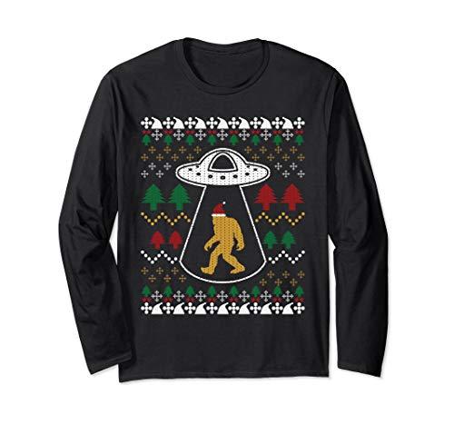 Santa Claus UFO Alien Bigfoot Ugly Sweater