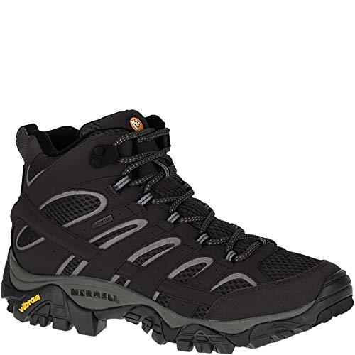 Merrell Women's Moab 2 Mid GTX Hiking Boot Black 7.5 B(M) US (Best Hiking Boots Uk 2019)
