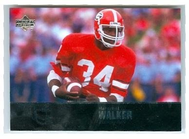 Herschel Walker football card (Georgia Bull Dogs 1982 Heisman Trophy) 2011 Upper Deck #65