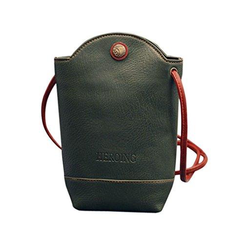 FitfulVan Clearance! Hot sale! Bags, FitfulVan Women Messenger Bags Slim Crossbody Shoulder Bags Handbag Small Body Bags (Green)