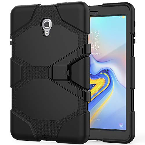 Galaxy Tab A 10.5 Inch 2018 Case, ZERMU Heavy Duty Kickstand Shockproof Hard Plastic+Silicone Defender High Impact Rugged Bumper Full-Body Protective Case for Samsung Galaxy Tab A 10.5 SM-T590/SM-T595