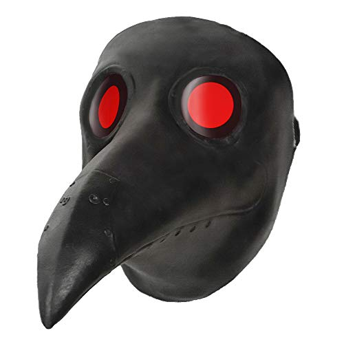 Steampunk Plague Doctor Mask Halloween Costume Party Latex Long Nose Bird Beak Cosplay Props White