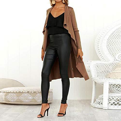 Manches POTTOA drange Femmes Robe Hiver Automne Jeans Vintage Denim Loose Veste Longues qxfC1F