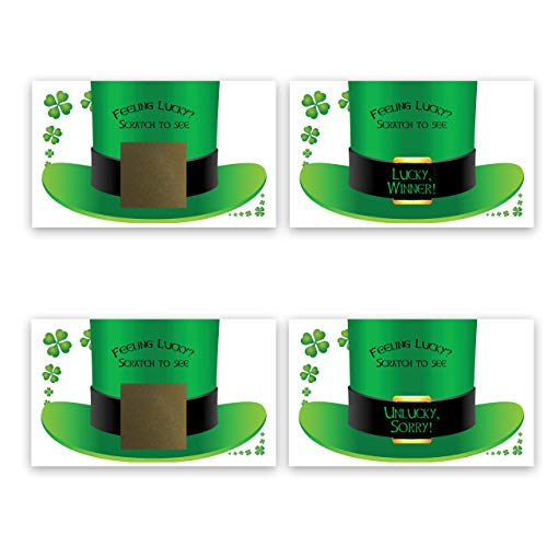 St. Patrick's Day Scratch-Off Cards, Family/Party Casino Games, Pack of 25]()