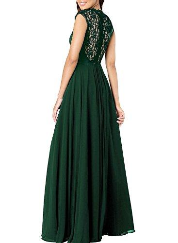Damen Bodenlang Spitze Ivydressing Chiffon 2017 Partykleider Promkleider Abendkleider Ballkleider Navy Lang Z7qwwd