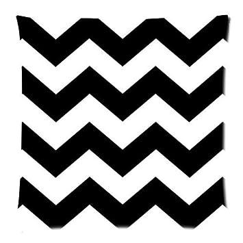 Amazon.com: Blanco y Negro Patrón de Chevron Zigzag Zig Zag ...