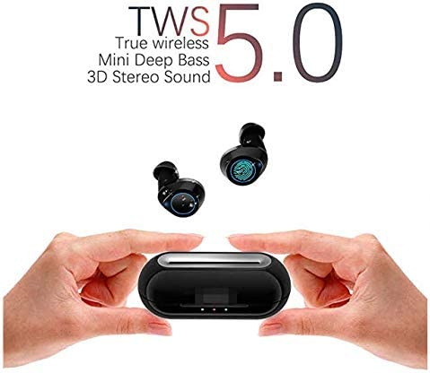 Bluetooth 5.0 HiFi 10mm Driver True Wireless Earbuds Built-in Mic, TRANYA Rimor Touch Control Sports Wireless Headphones, 25-Hour Total Playtime, Perfect for Jazz Pop Rock Country Folk Classical