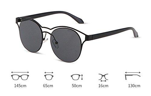 Frame Sunglasses Metal Vintage Big Aviator Frame gafas Nuevas Negro sol de Classic SwzqYx60