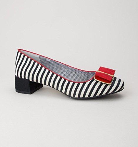 Shoo Red Womens Low June Ruby Black Heels Pumps wRqAat