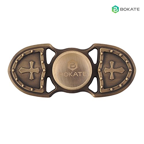 EDC BOKATE Crusader Hand Spinner Fidget Killing Time Toys for Children and Adults Best Stress Anxiety and Boredom Relieves (Copper) BOKATE