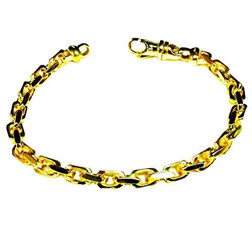 10kt Yellow gold handmade Anchor Link mens bracelet 10