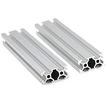 Iverntech - 2 barras lineales de extrusión de perfil de aluminio ...