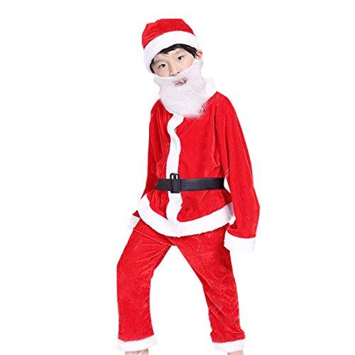 Boys Santa Claus Costume (Santa Claus Costume for Boys Kids Santa Costume Boy Santa Claus Costume for Kids Santa Suit,4-5 Year Old, 5 PC)