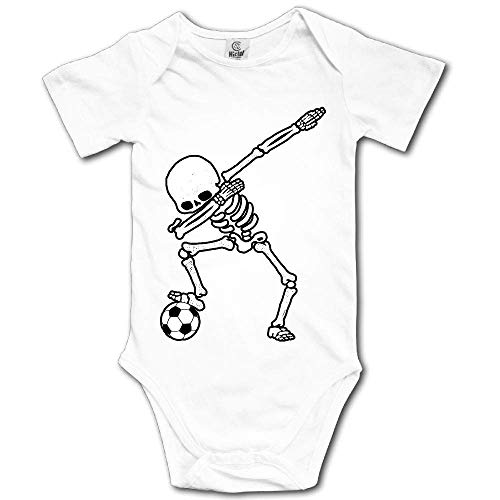Ting room Dabbing Skeleton Soccer Baby Short-Sleeve Onesies Bodysuit Baby Outfits White-18 Months