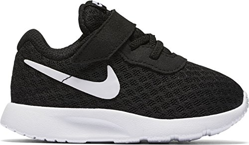NIKE Boy's Tanjun (TDV) Running Shoes (5 M US Toddler, Black/White/White) (Size 5 Big Boys Shoes)