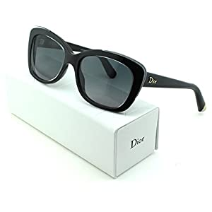 Dior Promesse 3 Cateye Women Sunglasses (Crystal Black Frame, Gradient Grey Lens (03ID))