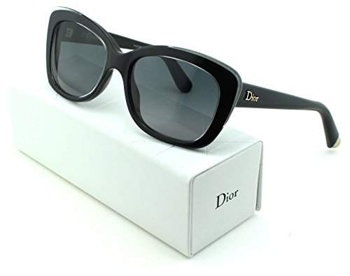 Dior Promesse 3 Cateye Women Sunglasses (Crystal Black Frame, Gradient Grey Lens - Dior Lady Sunglasses