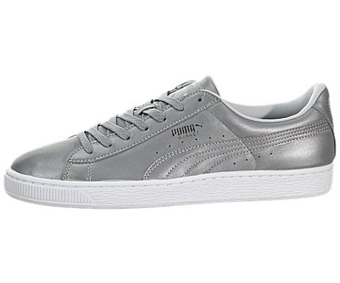 Puma-Basket-Reflective-Men-Round-Toe-Synthetic-Gray-Sneakers