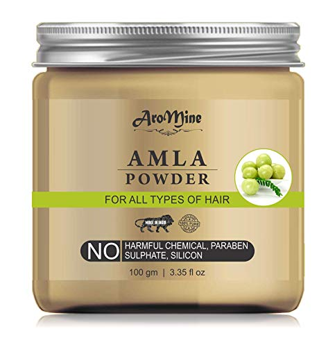 AroMine Natural & Organic Amla Powder for Hair Care, Hair Mask, 100gm