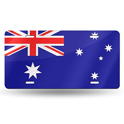 (Suining Flag of Australia Retro License Plates SUV Plates Car Decoration Tag 6x12 in)