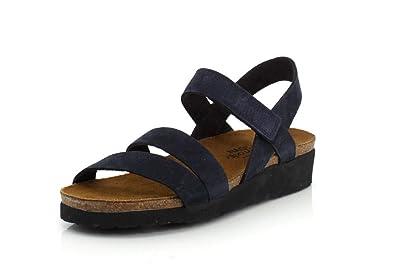 00200b12468e NAOT Footwear Women s Kayla Sandal Navy Velvet Nubuck 5 ...