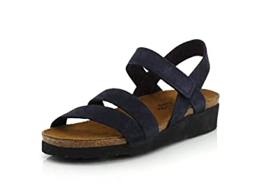 da13953536ff NAOT Footwear Women s Kayla Sandal Navy Velvet Nubuck 5 ...