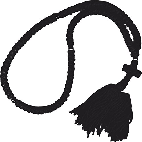 Large Handmade 100 Knot Black Wool Orthodox Prayer Rope (Chotki) ()