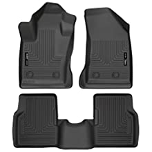 Husky Liners 95681 Black Front and 2nd Seat Floor Liner (Fits 17-18 Compass)