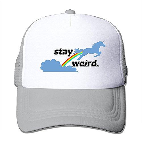 Toddler Kids Stay Weird Unicorn Snapback Mesh Caps - Adjustable Mesh - Brea Free