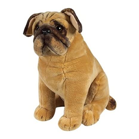 Amazon Com Melissa Doug Pug Dog Lifelike Stuffed Animal