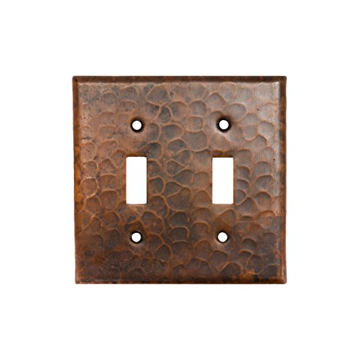Premier Copper Products ST2_PKG2 Copper Switchplate Double Toggle Switch Cover - Quantity 2, Oil Rubbed Bronze