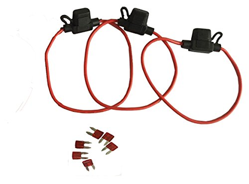 KOLACEN Automotive Car Truck In-line 16 Gauge Fuse Holder for Mini Blade Type Fuse 3 Pieces + 6 Pieces Mini Blade Fuse - Fuse Type Blade Holder