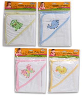 20x24 Inch Hooded Baby Bath Towel 48 pcs sku# 1266013MA by DDI