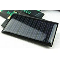 HUAZHU 10PCS -5V 30mA 53X30mm Micro Mini Power Solar Cells for Solar Panels - DIY Projects - Toys - 3.6v Battery Charger