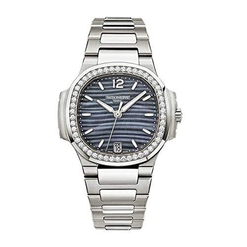 Patek-Philippe-Nautilus-Blue-Tinted-Mother-of-Pearl-Dial-Automatic-Ladies-Diamond-Watch-70181A-010