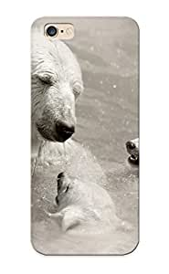 Inthebeauty Durable Defender Case For Iphone 6 Plus Tpu Cover(animals Polar Bears Baby Animals ) Best Gift Choice