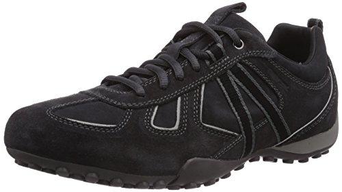 U3207Y UOMO Blackc9214 atmungsaktiv SNAKE Herrenschuhe Geox Charcoal Grau Sportlicher Sneaker Freizeitschuh Herren Schnürhalbschuh qw5TFRA
